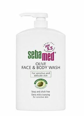 Sebamed Olive Face and Body Wash Pump Pot 1000ml