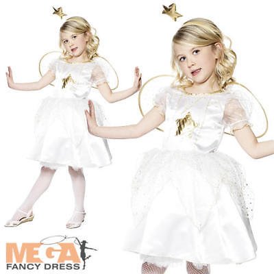 Star Fairy Girls Angel Nativity Fancy Dress Christmas Party Child Kids Costume