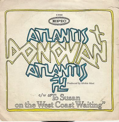 "DONOVAN - Atlantis - r@re Spanish 7"" SINGLE 45 Spain 1969"