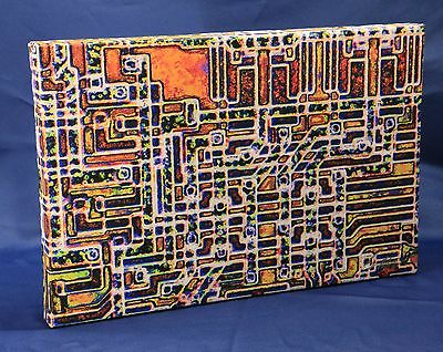 "ChipScapes - 4004 Upclose - Computer Chip Artwork Canvas 12""x18"" (Intel"