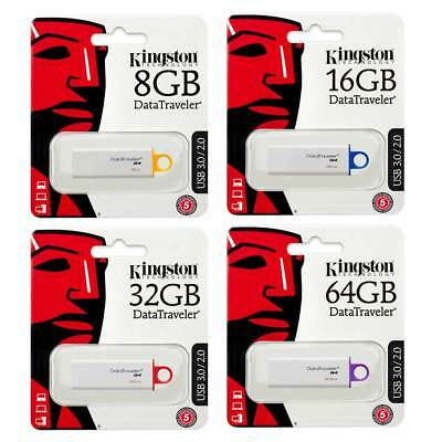 Kingston DataTraveler G4 USB 3.0 Flash Memory Sticks 8GB 16GB 32GB 64GB