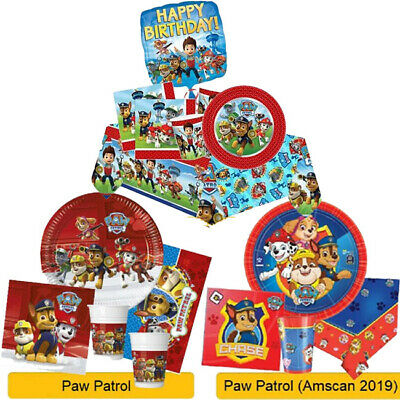PAW PATROL Birthday Party Range - Tableware Balloons Banners & Decorations