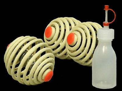 Set of 3 Fyrefli FyreBall FIRE JUGGLING BALLS with Kevlar Wicks - 80mm
