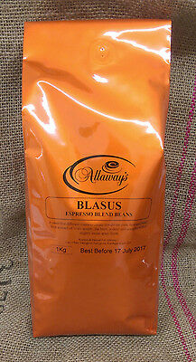 Allaway's Blasus Coffee Beans 5 different100%  arabica beans 1, 3 or 6kg