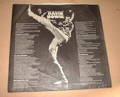 1971 1 x paper INSERT SLEEVE DAVID BOWIE THE MAN WHO SOLD WORLD no white border