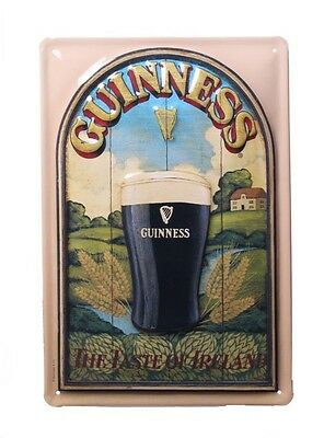 Wall Decor - Guinness landscape - Retro Metal Sign