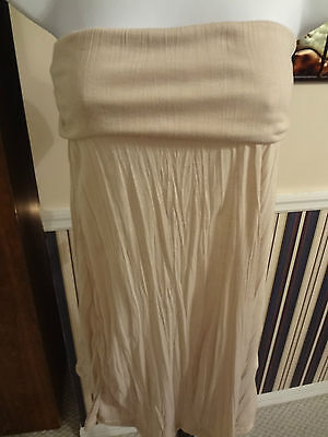 Woman/'s Size Med Blue Cover-Up Strapless Dress by Lori Michaels Collection $49