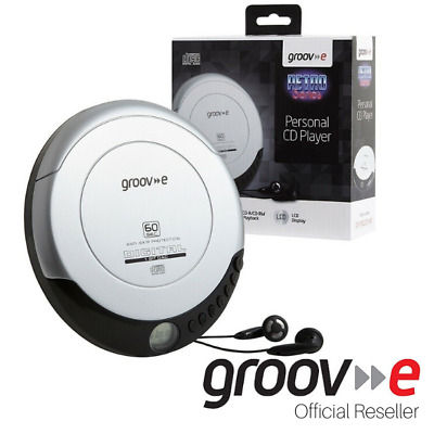 New Groov-E Retro Series Personal Cd Player With Earphones - Silver