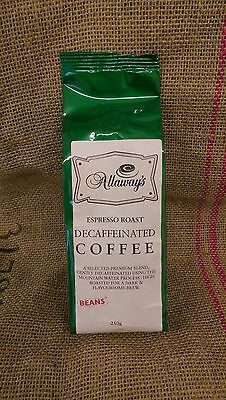 Allaway's Decaf Espresso Beans - mountain water processed 1, 3 or 6kg