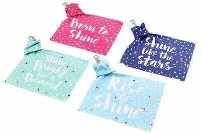 Fun Slogan Microfibre Glasses Cleaning Cloth & Keyring POP111