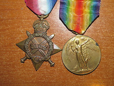 WW1 British Medal Pair named Royal Berkshire Regiment