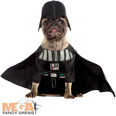 Darth Vader Dog Fancy Dress Star Wars Dark Side Evil Villain Puppy Pet Costume