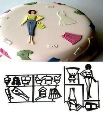 Sugarcraft Mold Family Silhouette Set Cake Decorating Patchwork Cutters Mold Pro