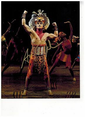 ADAM JACOBS--LION KING---ALADDIN ON BROADWAY Signed Photo 8x10--#17  PROOF