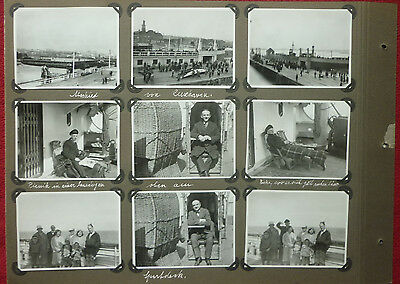 "9x FOTO HAPAG Schiff ""New York"" 1931 Abschied Cuxhaven auf Agfa Lupex"