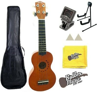 Lucky Penny LP-US10 Tattoo Soprano Ukulele w/Tuner, stand and more!!!
