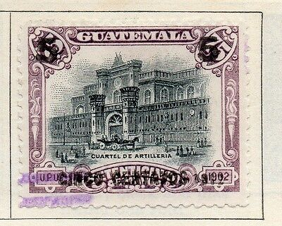 Guatemala 1912 Early Issue Fine Used 5c. Surcharged 108000