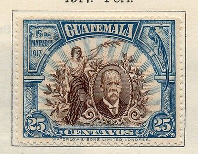 Guatemala 1917 Early Issue Fine Mint Hinged 25c. 108009