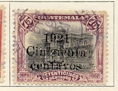 Guatemala 1921 Early Issue Fine Used 1c. Surcharged 108021