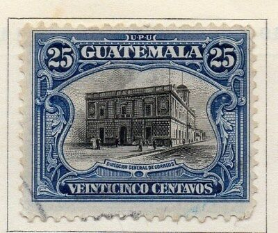 Guatemala 1911 Early Issue Fine Used 25c. 108046