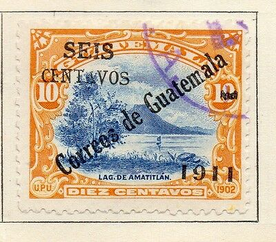 Guatemala 1911 Early Issue Fine Used 10c. Surcharged 108049