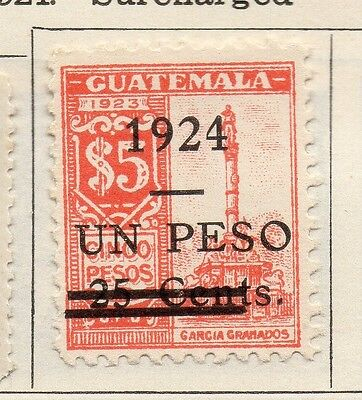 Guatemala 1924 Early Issue Fine Mint Hinged 1c. Surcharged 108095