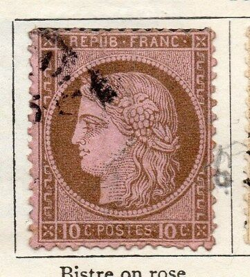 France 1872 Early Issue Fine Used 10c. 106564