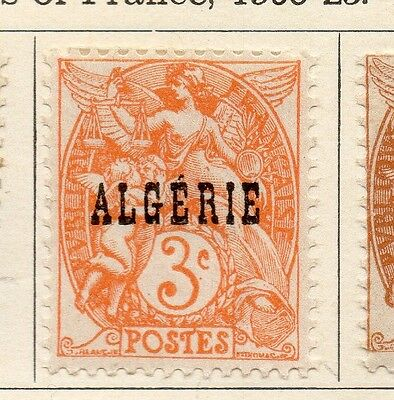Algeria 1924-26 Early Issue Fine Mint Hinged 3c. Optd 106843