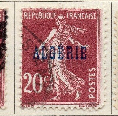 Algeria 1924-26 Early Issue Fine Used 20c. Optd 106852