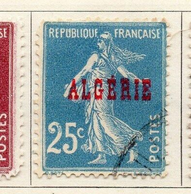 Algeria 1924-26 Early Issue Fine Used 25c. Optd 106853