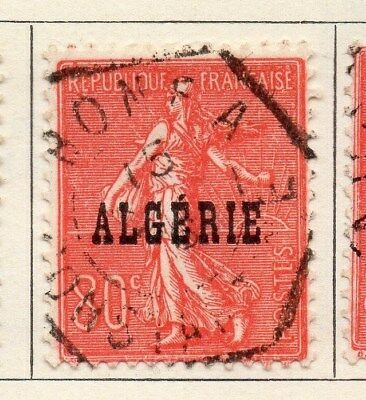 Algeria 1924-26 Early Issue Fine Used 80c. Optd 106863