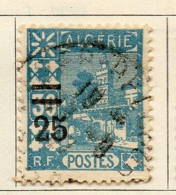 Algeria 1927 Early Issue Fine Used 25c. Surcharged 106897