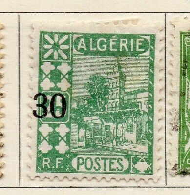 Algeria 1927 Early Issue Fine Used 30c. Surcharged 106898