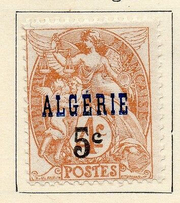 Algeria 1927 Early Issue Fine Mint Hinged 5c. Surcharged 106903