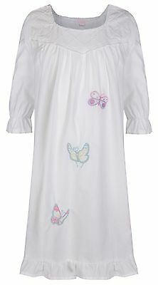 Girls Nightdress 100% Cotton Victorian Vintage Nightie age 4 5 6 7 8 9 10 11 12