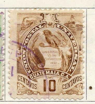 Guatemala 1900 Early Issue Fine Used 10c. 106926