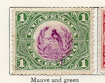 Guatemala 1902 Early Issue Fine Used 1c. 106927
