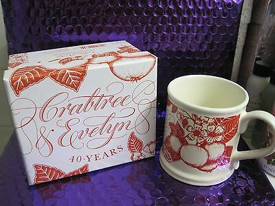 Crabtree & Evelyn Limited Edition 40th Anniversary Annual Mug 1972 - 2012 NewBox
