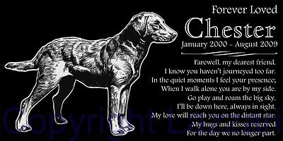 Personalized Chesapeake Bay Retriever Pet Dog Memorial 12x6 Granite Grave Marker