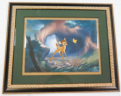 "Bambi (1942) ""Moment of Discovery"" ORIGINAL Handpainted Animation Cel Disney COA"