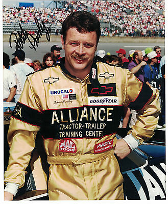 "NASCAR Robert Pressley 8x10"" Color Photo Authentic Autograph COA"