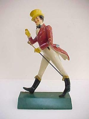 Antique Advertising Wood Johnnie Walker Store Figure Display Masters NY Whiskey
