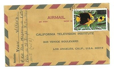 1980 Haiti Single Franked # C440 Surcharged Airmail Cover To Usa