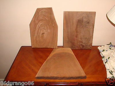 Wood Carving Blank Large Blocks Lot Of 3 Darker Wood Not Sure What Species