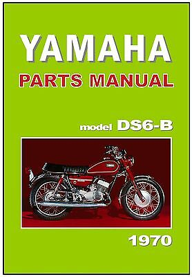 YAMAHA Parts Manual DS6 DS6B 1970 & 1971 Replacement Spares Catalog List