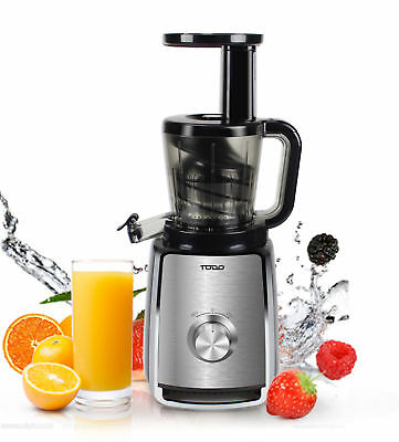 Slow Juicer Cold Press Juice Extractor Processor Healthy Electric Fruit Veggie