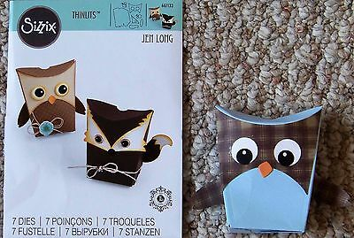 Sizzix Thinlits Double Owl Fox Box Dies Darling Boxes to Assemble Free Ship !!