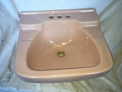 NEW OLD STOCK 1950's PINK porcelain Sink Universal Rundle UR