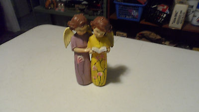 New Nce New Creative Wooden Angels Reading Statue Figure  Antique Look