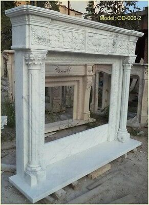 Customize Your Personal Size Hand Made Natural Marble Fireplace Mantel Surround